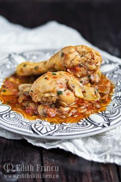 Chicken stew with mushrooms Stew Chicken Recipe, Chicken Recipes, Peanut Stew Recipe, Healthy Appetizers, Healthy Recipes, Great Recipes, Favorite Recipes, Tasty, Yummy Food