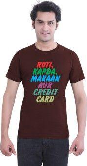 Tantra Roti Graphic Print Men's Round Neck T-Shirt: T-Shirt