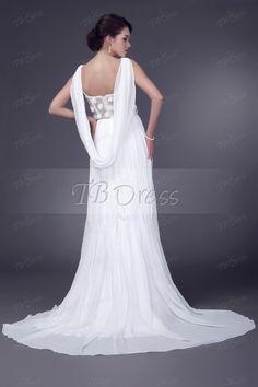 Spectacular Empire V-neck Floor-length Court Veleria's Appliques Wedding Dresses