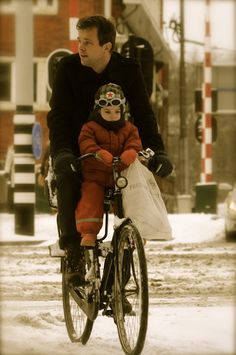 winter commute for the whole family!