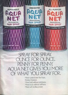 Staple of 80s hair!