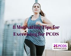 Regular exercise, is an essential part of managing PCOS. Here are 8 tips to motivate you to be active if you have PCOS. Nutrition Guide, Fitness Nutrition, Nutrition Information, Fitness Tips, Fitness Motivation, Pcos Exercise, Pcos Infertility, Endometriosis, Polycystic Ovary Syndrome Pcos