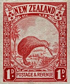 1936 New Zealand Kiwi Stamp by Bill Owen - 1936 New Zealand Kiwi Stamp. Irezumi Tattoos, Maori Tattoos, Key Tattoos, Skull Tattoos, Foot Tattoos, Sleeve Tattoos, Rare Stamps, Old Stamps, Vintage Stamps