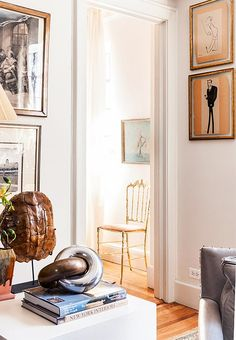 A peek into the guest room, just off the main living space, reveals a Charivari chair.