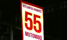 Dikembe Mutombo gets his number raised to the rafters in Atlanta.
