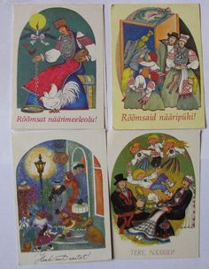 .E.Tikerpäe Old Postcards, Illustrations, Baseball Cards, Painting, Art, Art Background, Illustration, Painting Art, Kunst
