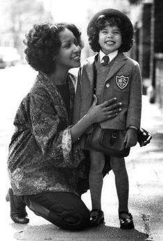 Marsha Hunt and daughter Karis Jagger (Mick Jagger's daughter)