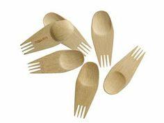 Bambu 24-pc. Veneerware Bamboo Sporks, Natural plum party actually