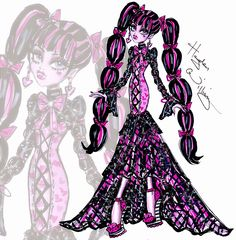 Hayden Williams Fashion Illustrations: Monster High 'Fabulously Fangtastic' Draculaura by Hayden Williams