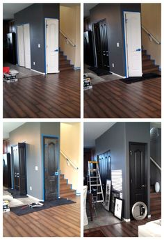 My Rental Restyle: Painting doors BLACK + Moving or Renting Interior Painting Tips via Sese Sese Middleton Imagery Studio Interior, Interior Design Tips, Apartment Interior, Interior Logo, Interior Sketch, Interior Plants, French Interior, Scandinavian Interior, Luxury Interior