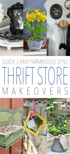 Can you name two things that the readers at The Cottage Market really love…ok…there are more than two…but what if I told you we are combining Quick and Easy Thrift Store Makeovers with Farmhouse Style??? Excited…I think you are and I am excited to share these beauties with you! Get comfy and get ready to …