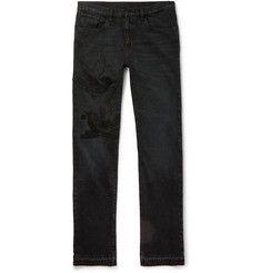 Gucci - Slim-Fit Embroidered Denim Jeans