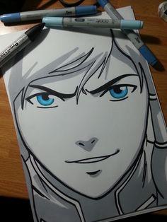 #Korra 's portrait, from #Avatar #legendofkorra #fanart #traditionalart #cool #blue #eyes #blueeyes