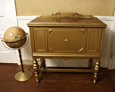 Hollywood Regency  Gold Buffet Server  Glamorous  by PriscillaRich, $575.00 | Storage Chest | Accent Table | Foyer Table | Desk | Gold Furniture | Christmas Furniture | New Years Furniture
