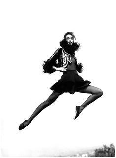 Susan Holmes 1991 Vogue Paris Photo Arthur Elgort