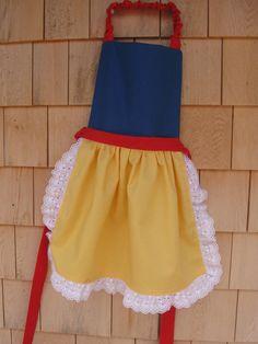 Disney Princess Aprons Ariel Cinderella Snow White by sugartogs