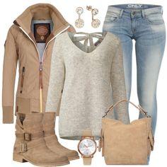 Uebergangslook Outfit  - Freizeit Outfits  bei FrauenOutfits.de