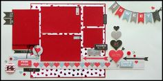 Love this page. Adapt it with CTMH Heartstrings paper from Seasonal Expressions.