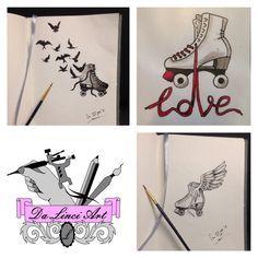 Love Skates & Tattoo - Drawing Made by linda - Da Linci, Zwijndrecht The Netherlands Skate Tattoo, Tattoo Shop, Color Ink, Skate Art, Skates, Netherlands, Body Art, Tattoo Designs, Roller Derby