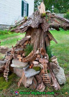 20 beautiful tree stump planter ideas for the garden- 20 schöne Baumstumpf-Pflanzer-Ideen für den Garten We are often faced with the problem of sawing stumps of old or sick lo -