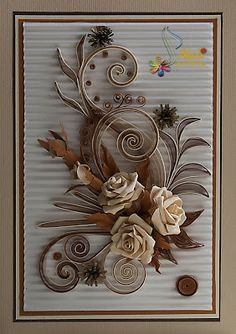 Neli is a talented quilling artist from Bulgaria. Her unique quilling cards bring joy to people around the world. Paper Quilling Tutorial, Paper Quilling Patterns, Quilling Paper Craft, Toilet Paper Roll Crafts, Paper Crafts, Filigrana Neli, Flower Cards, Paper Flowers, Quilling Images