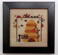 Joyful Journal June is the title of this cross stitch pattern from Heart In Hand Joyful Journal series.