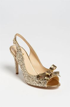 Free shipping and returns on kate spade new york 'claudia' pump at Nordstrom.com. A glittery heel elevates the playful punch of a slingback pump punctuated with a double bow.