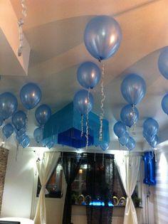 Pojkklass ett år! Babyblått tema
