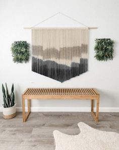 Mid Century Modern Living Room, Living Room Modern, Living Room Decor, Large Macrame Wall Hanging, Modern Wall Decor, New Furniture, Decorating Your Home, Decorating Ideas, Decor Ideas