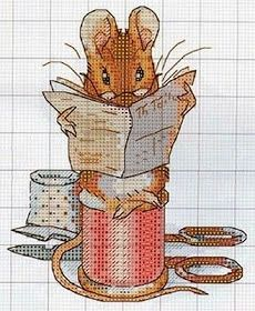 ♥ ♥ Korsstygns-Archive: For those of you who love Beatrix Potter and her wonderful world Cross Stitching, Cross Stitch Embroidery, Embroidery Patterns, Crochet Patterns, Loom Patterns, Beatrix Potter, Crochet Disney, Crochet Baby, Cross Stitch Baby