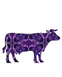 wall art cow cow poster whimsical cow painting art by artkunzelman, $17.00