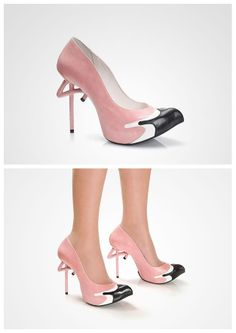 Flamingo shoes by Kobi Levi And YES, I would totally wear these!!
