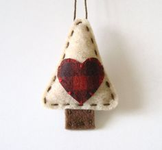 Primitive Christmas Decorations Felt Ornament by AmeliaAndBrother, $4.00 #etsysns