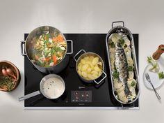 Nueva Placa de Inducción Total Neff: La cocina sin límites ha llegado. El tamaño del recipiente, la forma o la posición ya no determina la receta que te apetezca cocinar.