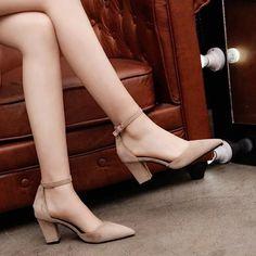 Women Casual Shoes High Hells Hiking Shoes For Women Blue Velvet Heels – licheetal Lace Up Heels, Ankle Strap Heels, Ankle Straps, Ankle Socks, Stiletto Heels, High Heels, Low Heel Shoes, Thick Heels Pumps, Prom Heels