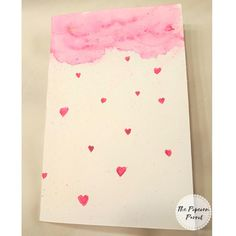 Homemade Valentine Cards, Homemade Cards, Watercolor Cards, Watercolour, Handmade Envelopes, Beautiful Handmade Cards, Heart Cards, Silk Painting, Anniversary Cards