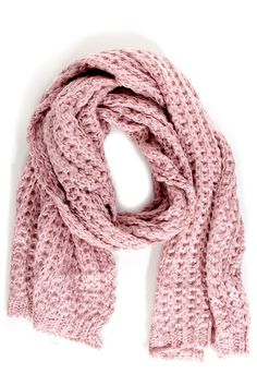 Cozy Oversized Scarf - Blush Pink Scarf - $26.00