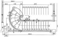 サーキュラー階段詳細図(平面図)