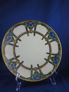 "Thomas Bavaria Arts & Crafts Plate (Signed ""L. Hober""/c.1910-1930)"