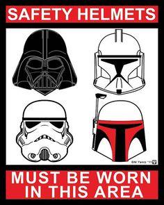 Star Wars Helmet Safety 4x5 vinyl sticker by MYantz on Etsy