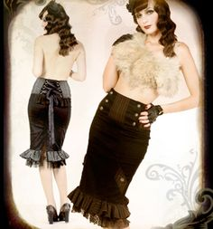 Steampunk skirt.. might look good with that ivy corset.