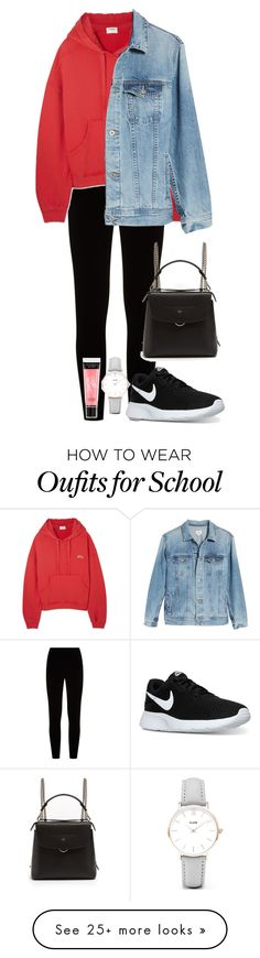 """Untitled #741"" by ayalikeschicken on Polyvore featuring Eileen Fisher, RE/DONE, AG Adriano Goldschmied, NIKE, Fendi, CLUSE and Victoria's Secret"