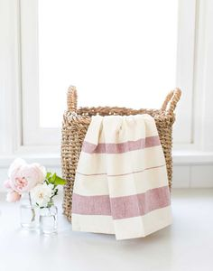 Add an elegant towel to your kitchen. These beautiful towels are hand-woven with manual looms and are soft touches for home decor. Every purchase goes toward supporting artisans in India.