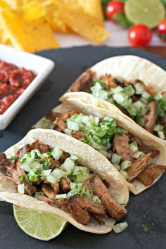 The easiest recipe for Slow Cooker Pork Carnitas ever! Tender and flavorful pieces of crispy pork that just melt in your mouth. Pork Recipes, Mexican Food Recipes, Whole Food Recipes, Healthy Recipes, Ethnic Recipes, Slow Cooker Pork, Slow Cooker Recipes, Crispy Pork