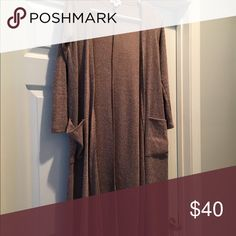 Brown/Tan xtra small LuLaRoe Sarah Washed and worn once to LLR standards LuLaRoe Sweaters Cardigans