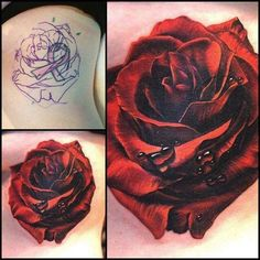 Red rose ink