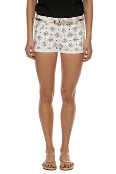 Anchor print roll-up short - Tristan