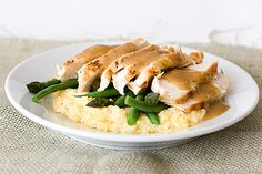 Saturdays with Rachael Ray - Orange-Balsamic Chicken with Asparagus, Green Beans and Polenta - Taste and Tell