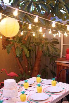 TELL: TROPICAL FLAMINGO PINEAPPLE BIRTHDAY PARTY - Tell Love and ChocolateTell Love and Chocolate