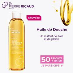 Testez gratuitement l'huile de douche Dr Pierre Ricaud - Mes échantillons Gratuits